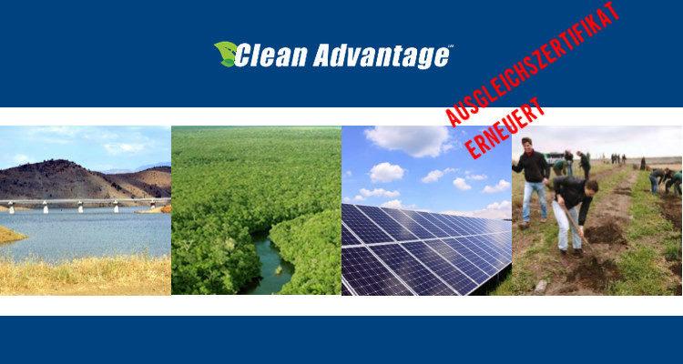 The Clean Advantage-Zertifikat bestätigt
